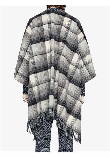 Poncho nero/grigio GUCCI | PONCHO | 5531184G2001261