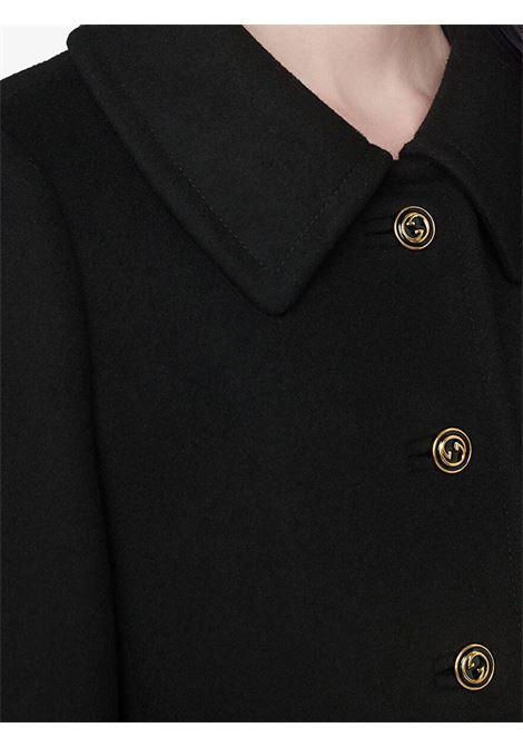 Cappotto nero GUCCI | CAPPOTTI | 626300ZHW031000