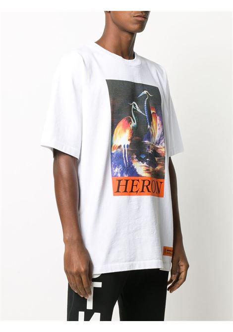 White t-shirt HERON PRESTON |  | HMAA020F20JER0020120