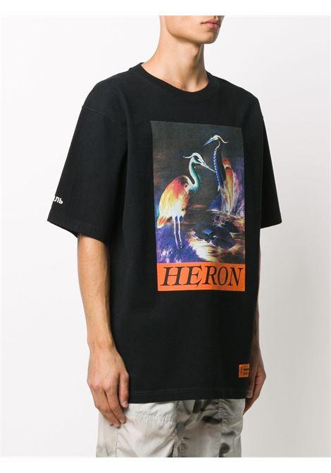Black t-shirt HERON PRESTON |  | HMAA020F20JER0021020
