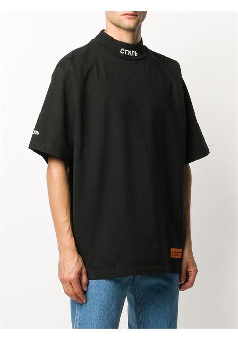 Black t-shirt HERON PRESTON |  | HMAA021F20JER0011001