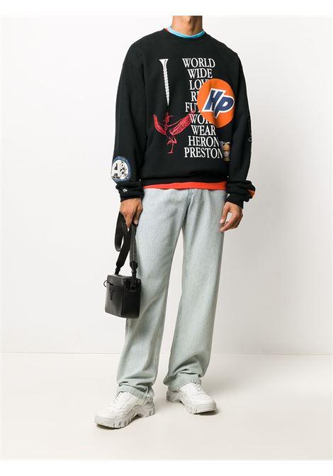 Black sweatshirt HERON PRESTON |  | HMBA014F20JER0021001