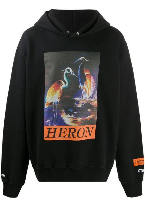 Felpa nera HERON PRESTON | FELPE | HMBB011F20JER0021020