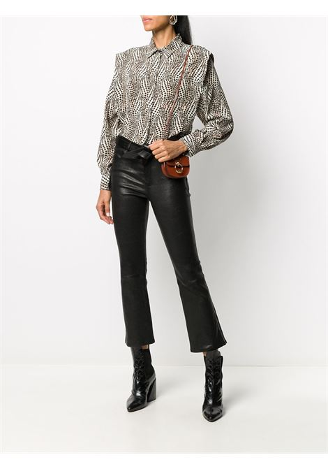 Camicia beige/nero ISABEL MARANT | TOP | HT196620H042I90BE