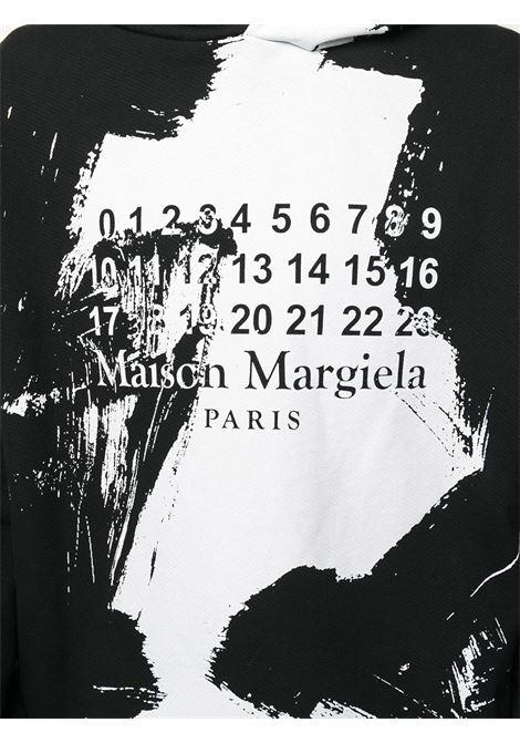 Felpa nera/bianca MAISON MARGIELA | FELPE | S50GU0151S25451900