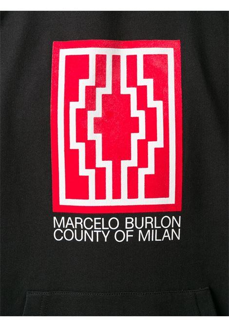 Felpa nera MARCELO BURLON | FELPE | CMBB007E20FLE0121001