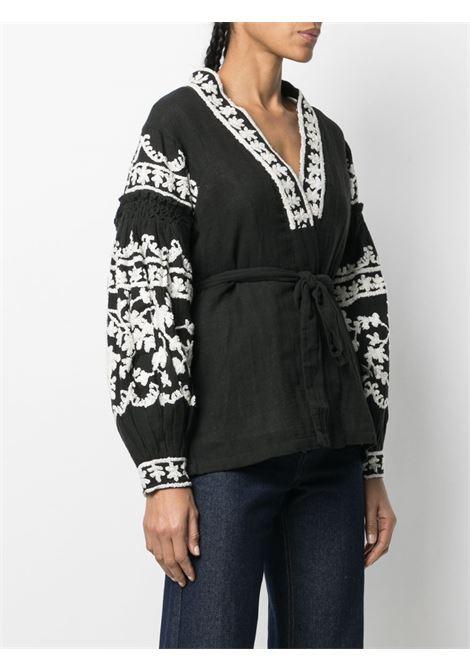 Black/white blouse MES DEMOISELLES |  | 20WMMDKW00043BLACK