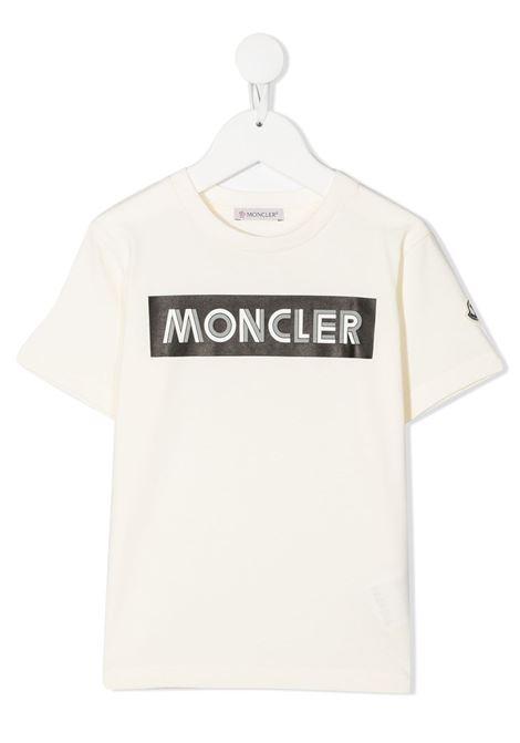 T-shirt bianca MONCLER | T-SHIRT | 8C7272083092034