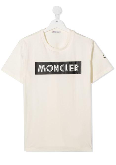 T-shirt bianca MONCLER | T-SHIRT | 8C72720T83092034