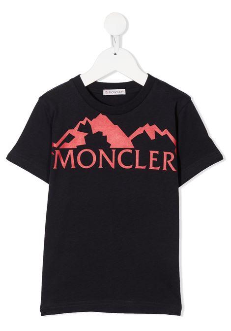 T-shirt nera MONCLER | T-SHIRT | 8C7282083092778