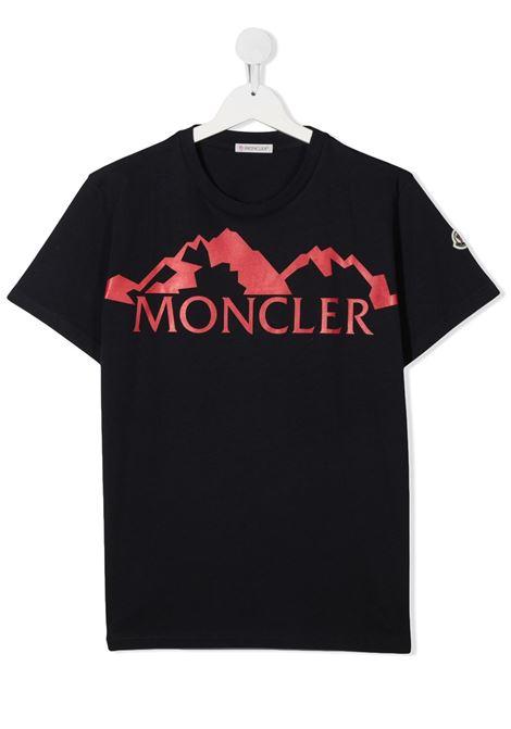 T-shirt blu MONCLER | T-SHIRT | 8C72820T83092778