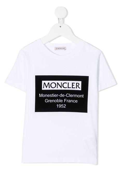 Maglia bianca MONCLER | T-SHIRT | 8C7312083092001