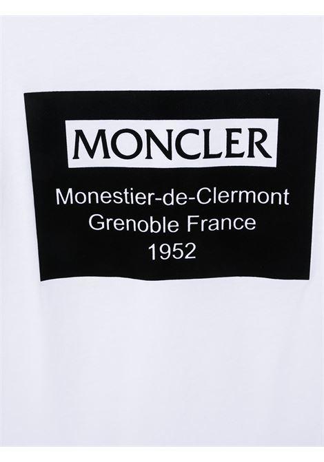 T-shirt bianca MONCLER | T-SHIRT | 8C73120T83092001