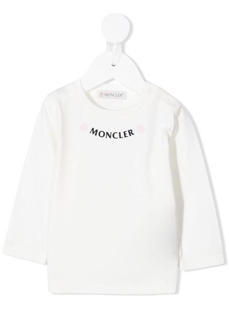 Maglia bianca MONCLER | MAGLIE | 8D711108790M034