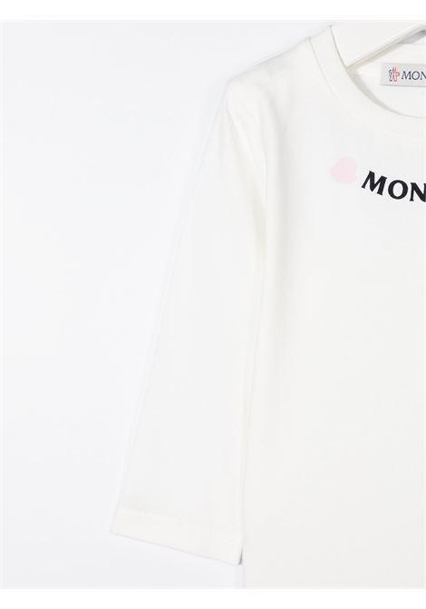 Maglia bianca MONCLER | MAGLIE | 8D71110B8790M034