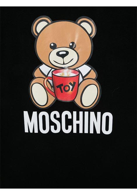 T-shirt nera MOSCHINO | T-SHIRT | H6M029TLBA1160100