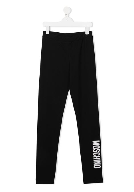 Leggings nero MOSCHINO | LEGGINGS | HAP03UTLBA1160100