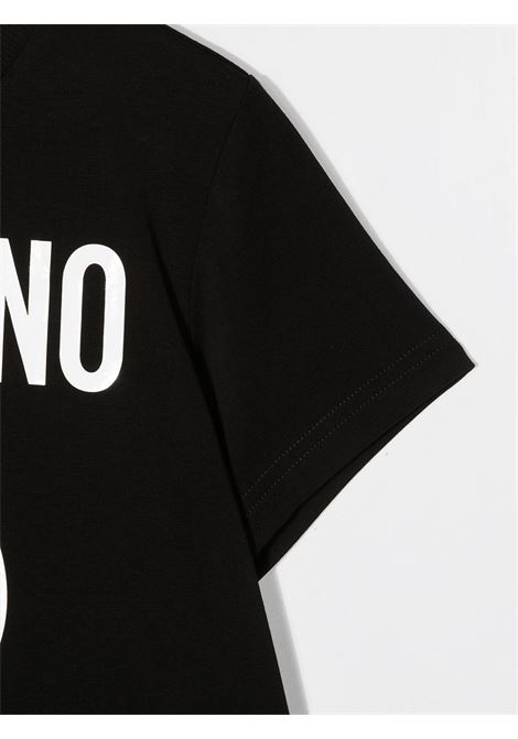 T-shirt nera MOSCHINO | T-SHIRT | HUM02ULBA1260100