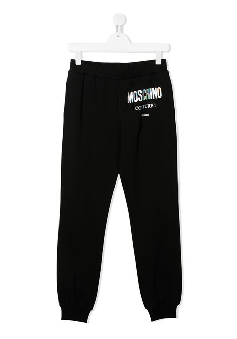 Pantaloni neri, MOSCHINO | PANTALONI | HUP049TLDA1660100