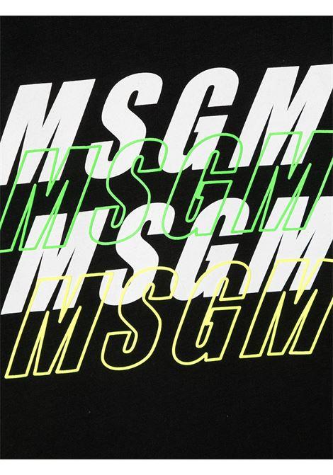 T-shirt nera MSGM | T-SHIRT | 025042110