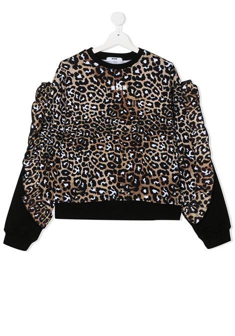 Brown sweatshirt MSGM | SWEATER | 025081T200