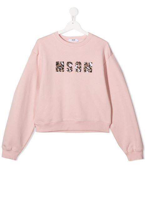 Felpa rosa MSGM | FELPE | 025082T042