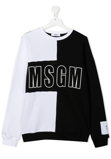 Felpa bianco/nera MSGM | FELPE | 025168T00101