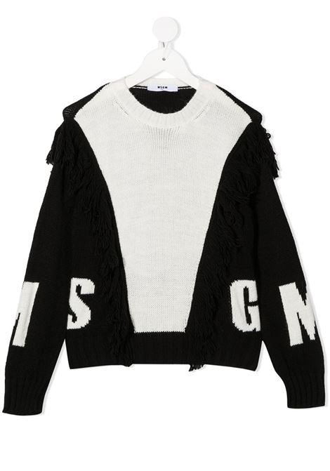 Maglione bianco/nero MSGM | MAGLIONE | 025189001