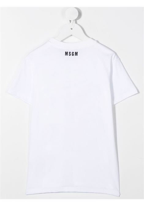 T-shirt bianca MSGM | T-SHIRT | 025283001