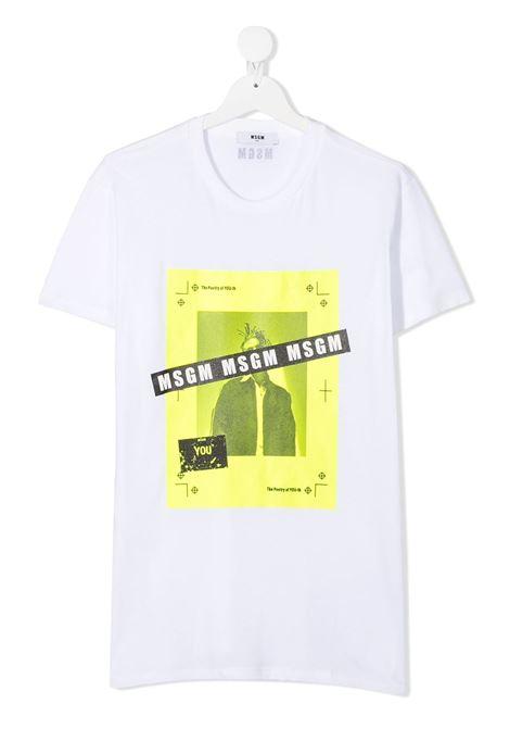 T-shirt bianca MSGM | T-SHIRT | 025283T001