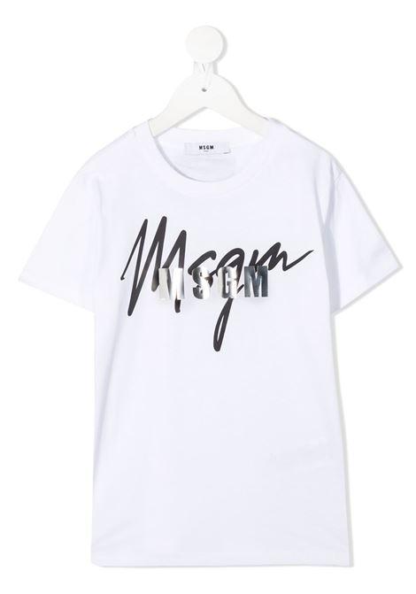 T-shirt bianca MSGM | T-SHIRT | 025297001