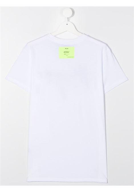 T-shirt bianca MSGM | T-SHIRT | 025297T001