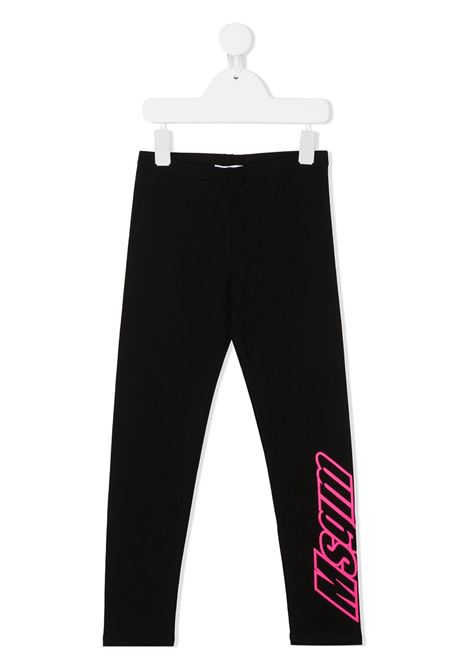 Leggings nero MSGM | LEGGINGS | 02581311027