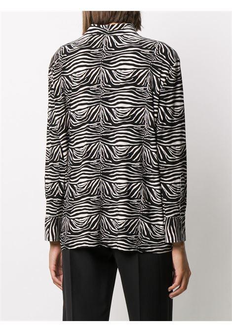 Camicia bianco/nero NORMA KAMALI | CAMICIE | KK3206PL191467SMALLZEBRA