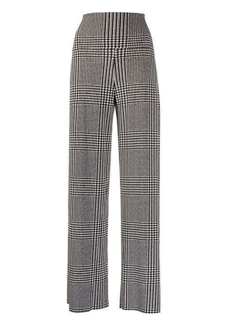 White/black trousers NORMA KAMALI | TROUSERS | KK3207PL111474GLENNPLAID
