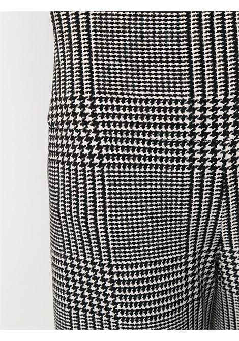 Pantalone bianco/nero NORMA KAMALI | PANTALONI | KK3207PL111474GLENNPLAID