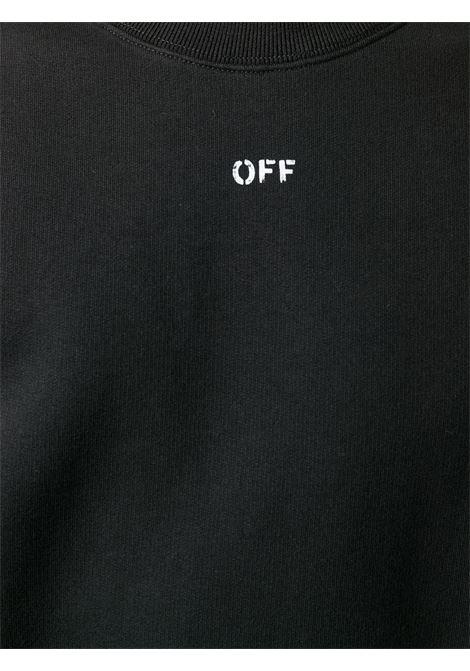 Felpa nera OFF WHITE | FELPE | OMBA025E20FLE0031001