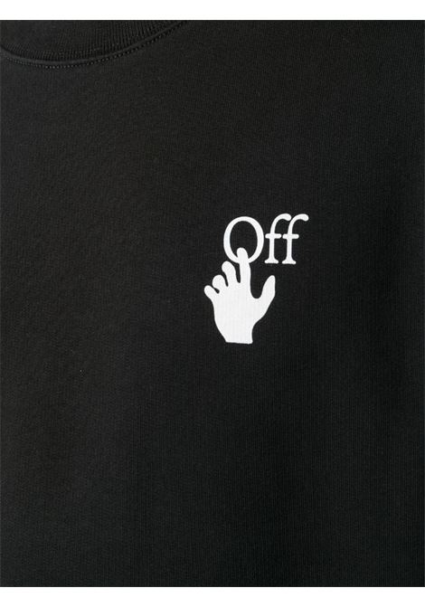 Felpa nera OFF WHITE | MAGLIE | OMBA025F20FLE0041001