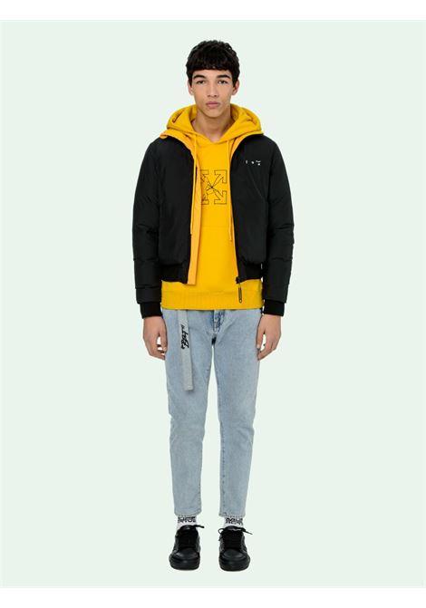 Piumino nero/giallo OFF WHITE | BOMBER | OMED024E20FAB0011001