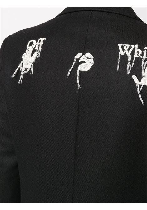 Cappotto nero OFF WHITE | CAPPOTTI | OMER003E20FAB0011001