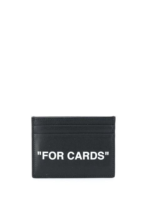 Black card holder OFF WHITE |  | OMND017F20LEA0011001