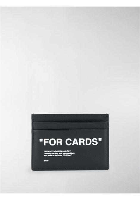 Portacarte nero OFF WHITE | PORTACARTE | OMND017F20LEA0011001