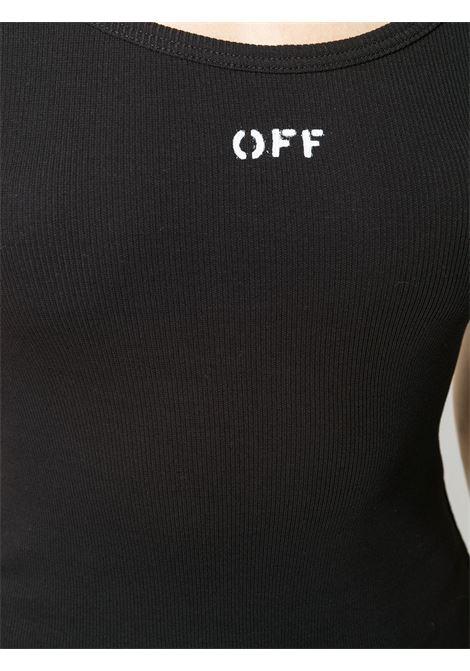 Canotta nera OFF WHITE | CANOTTE | OWAD072E20FAB0011001
