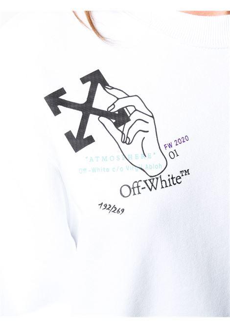 Felpa bianca OFF WHITE | FELPE | OWBA026E20FLE0020110