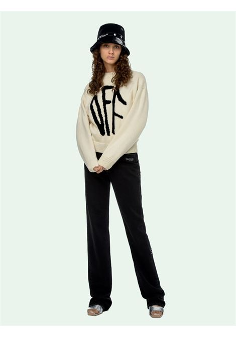 Beige jumper OFF WHITE |  | OWHE017F20KNI0016110