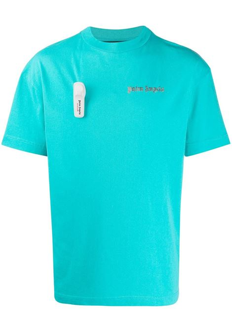 Light blue t-shirt PALM ANGELS | T-SHIRT | PMAA001E20JER0094078