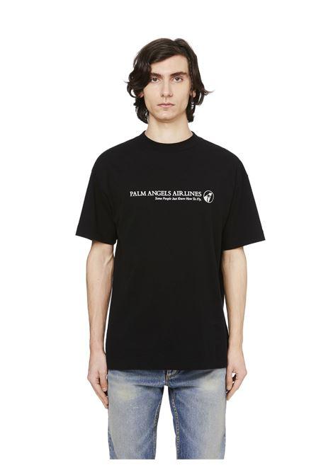 Black t-shirt PALM ANGELS | T-SHIRT | PMAA001F20JER0041001