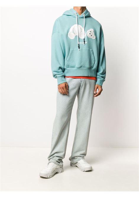 Aquamarine sweatshirt PALM ANGELS | SWEATSHIRTS | PMBB058E20FLE0045001