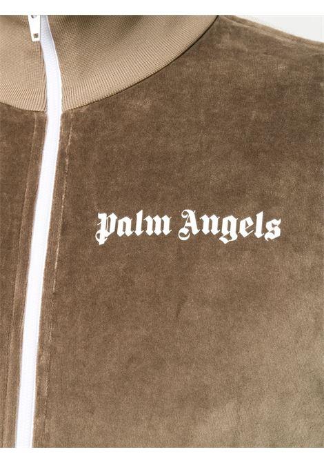 Felpa marrone PALM ANGELS | MAGLIA ZIP | PMBD001E20FAB0036401