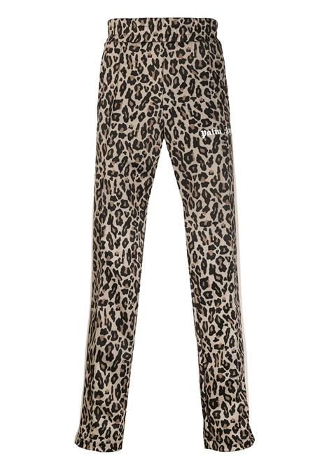 Leopard print trousers PALM ANGELS | TROUSERS | PMCA007E20FAB0061801